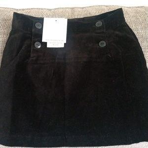 NWT Janie and Jack black velvet size 4 skirt